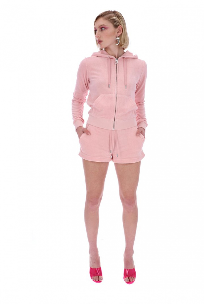 Bilde av JUICY COUTURE Zip Hoodie Pale Pink